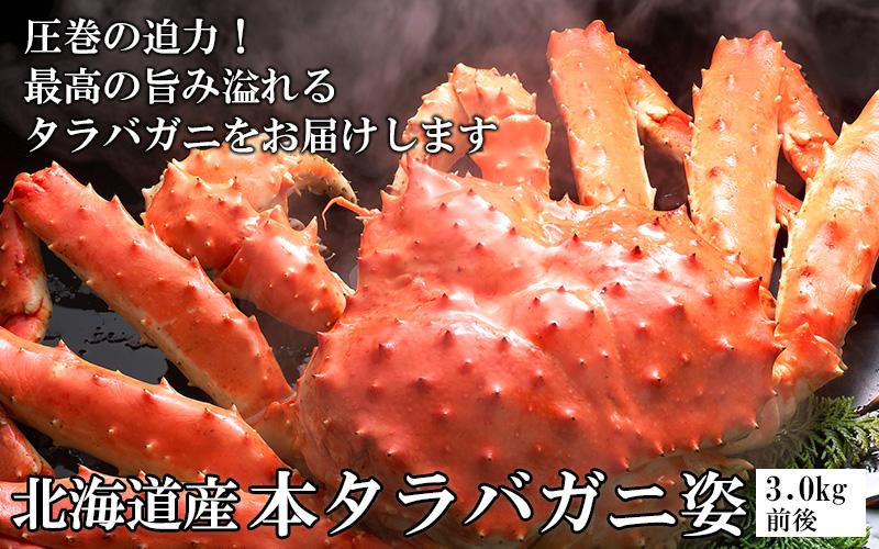 北海道産本タラバガニ姿3.0kg前後<ボイル冷凍>