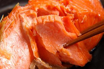 熱々ホクホクの紅鮭