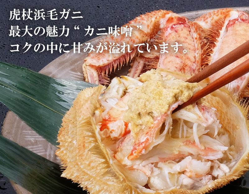 虎杖浜産毛ガニはカニ味噌が美味しい
