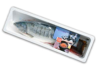 鮭を丸ごと1尾お届けします