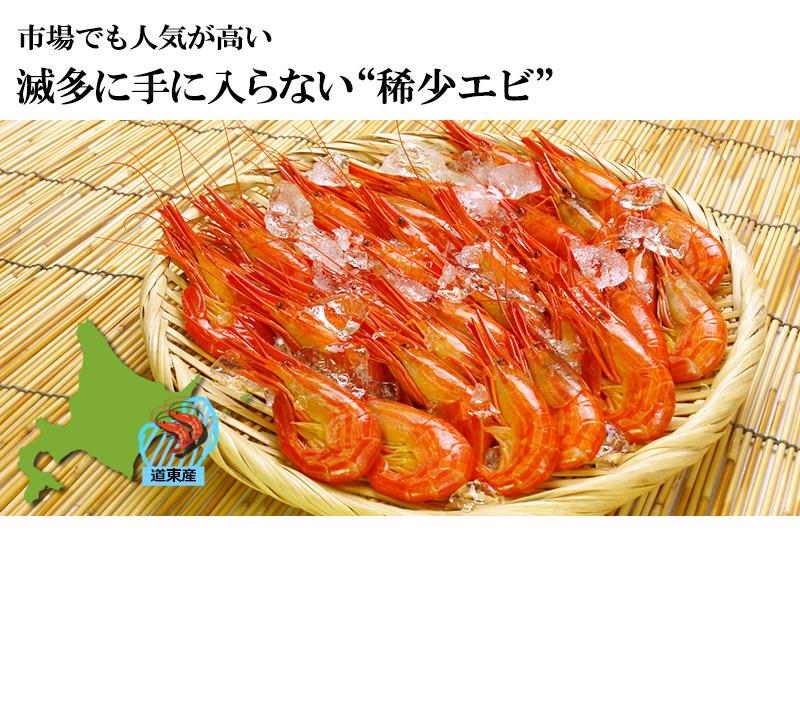 浜茹で北海シマエビ(500g・大サイズ25~30尾)<チルド冷蔵>