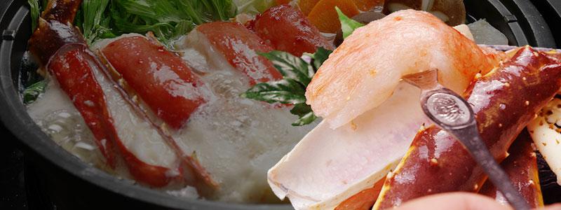 調理して味わう生のタラバガニ