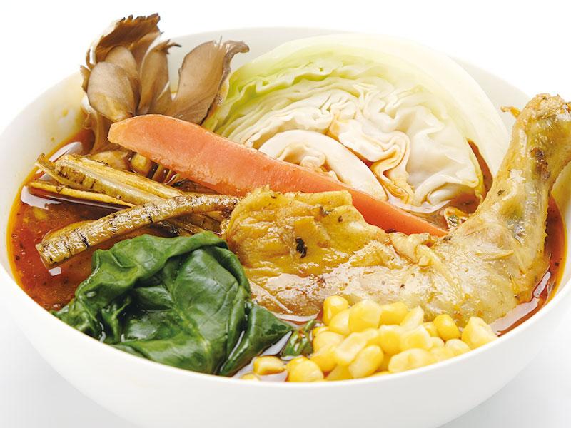 野菜たっぷり北海道野菜のスープカレー