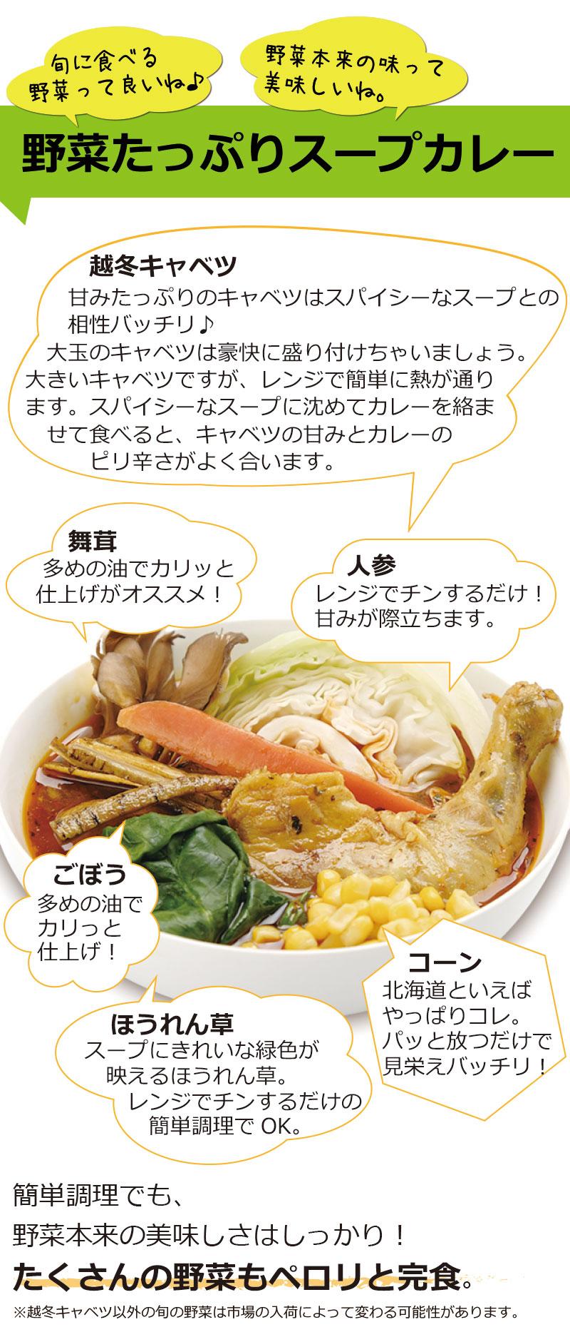 旬に食べる野菜って良いね。野菜たっぷりスープカレー
