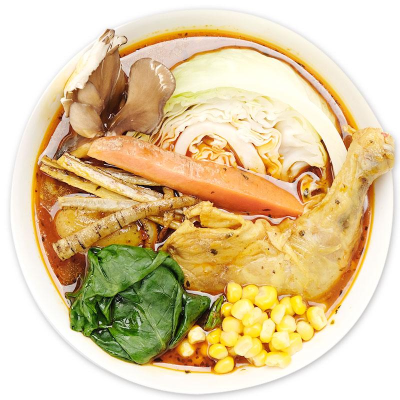 旬の野菜たっぷりスープカレー