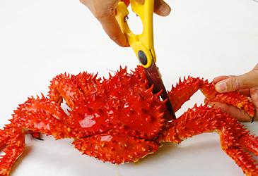 花咲ガニの足のさばき方