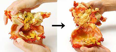 花咲ガニの甲羅をはがし方(実践)