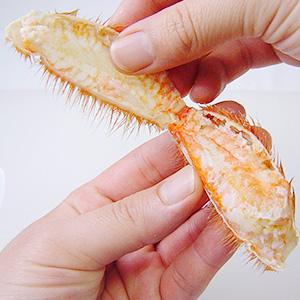 毛ガニの殻のはがし方
