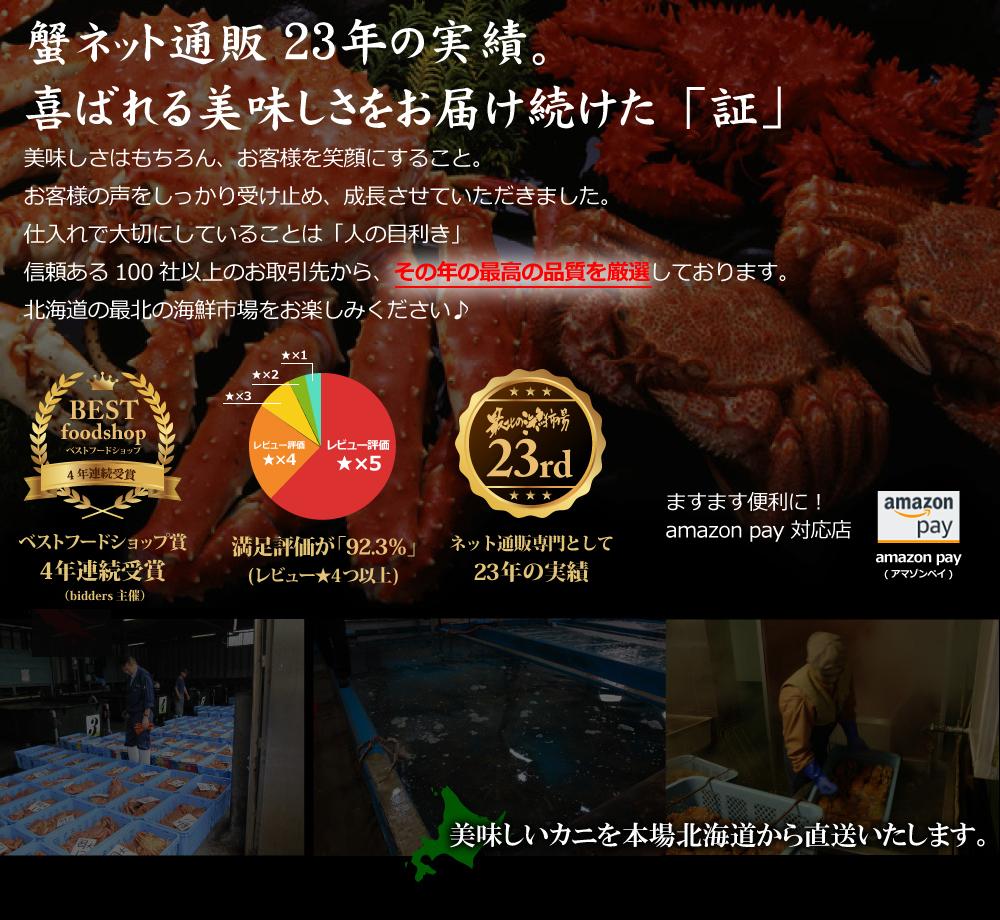 北海道の「最北の海鮮市場」がお届けするおトクで美味しいかにしゃぶ・カニ鍋